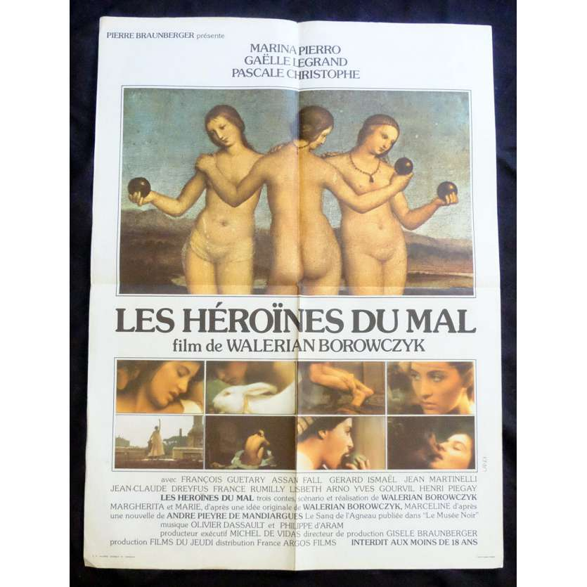 IMMORAL WOMEN French Movie Poster 23x32 - 1979 - Landi, Walerian Borowczyk