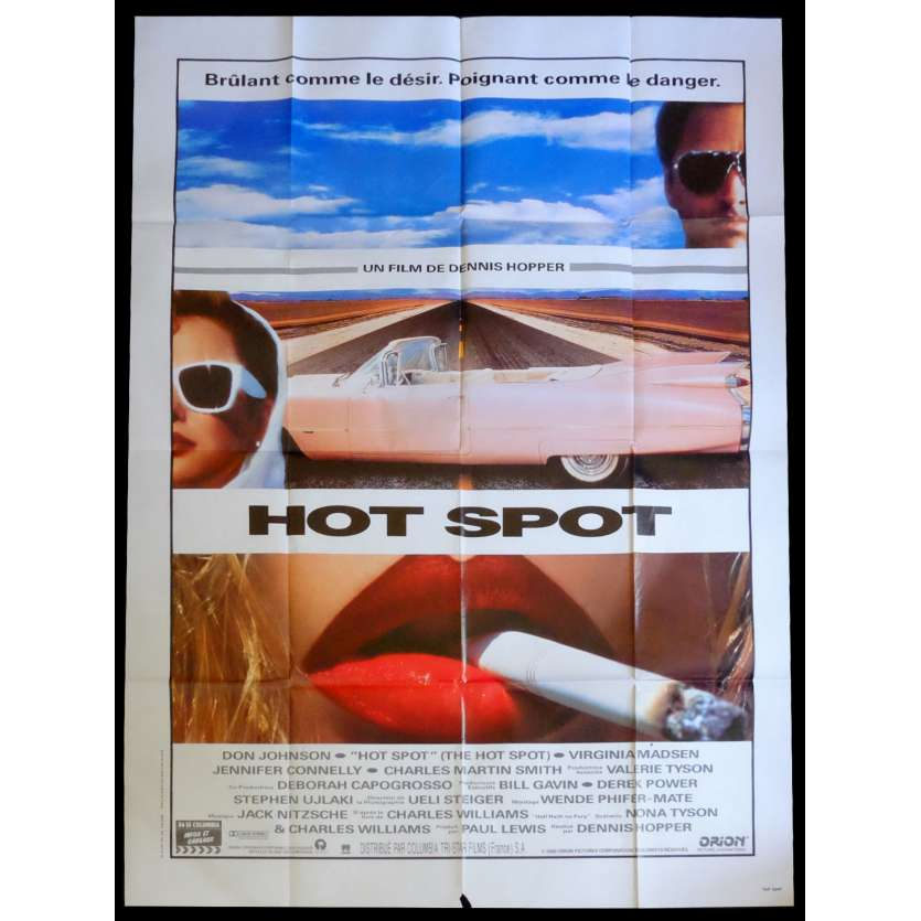 HOT SPOT French Movie Poster 47x63 - 1990 - Dennis Hopper, Don Johnson