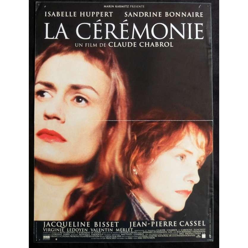 LA CEREMONIE Affiche de film 40x60 - 1995 - Hupper, Bonnaire, Claude Chabrol