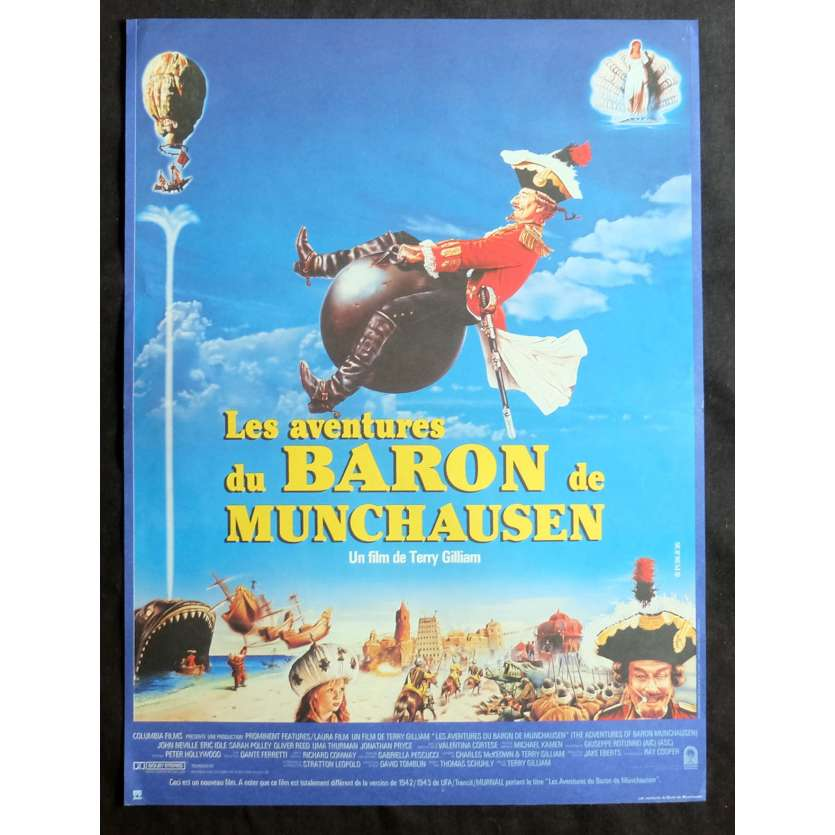 BARON DE MUNCHAUSEN Affiche de film 40x60 - 1988 - Eric Idle, Terry Gilliam