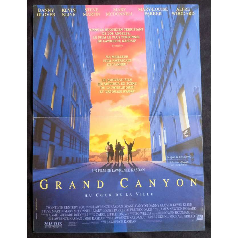 GRAND CANYON French Movie Poster 15x21 - 1991 - Lawrence Kasdan, Danny Glover