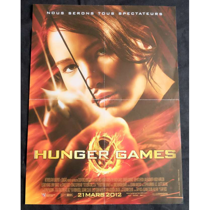 HUNGER GAMES French Movie Poster 15x21 - 2012 - Gary Ross, Jennifer Lawrence