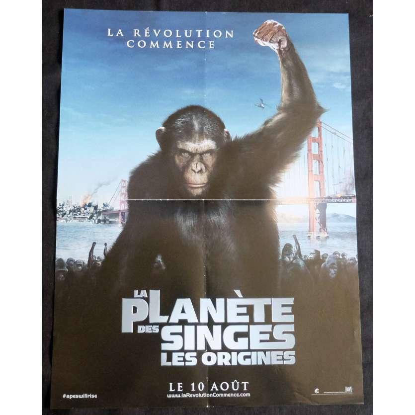 LA PLANETE DES SINGES Affiche de film 40x60 - 2011 - Andy Serkis, Rupper Wyatt