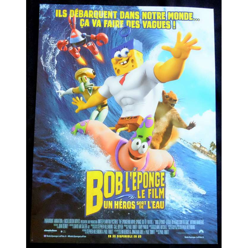 SPONGE BOB Style A French Movie Poster 15x21 - 2014 - Paul Tibbit, Antonio Banderas