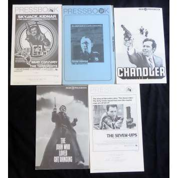 CRIME LOT 1 US Pressbook lot 11x15 - 1970's - , Sean Connery, Franck Sinatra