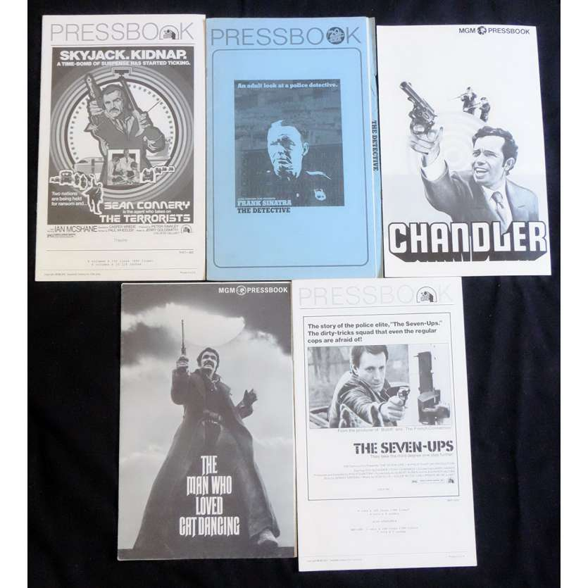 CRIME LOT 1 US Pressbook lot 11x15 - 1970's - , Sean Connery, Franck Sinatra