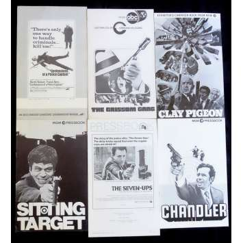 CRIME LOT 3 US Pressbook lot 11x15 - 1970's - Damiani, Aldrich, Telly Savalas, Oliver Reed