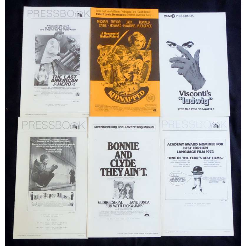 LOT 2 US Pressbook lot 11x15 - 1970's - Bunuel, Visconti, Michael Caine, Jane Fonda