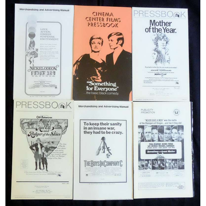 LOT 4 Dossiers de presse 28x43 - 1970's - Paul Newman, Henry Fonda, Sidney J Furie