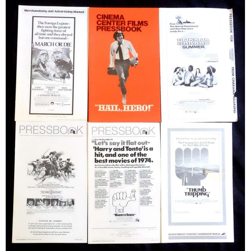 LOT 6 Dossiers de presse 28x43 - 1970's - Gene Hackman, Terence Hill, Richard Lester