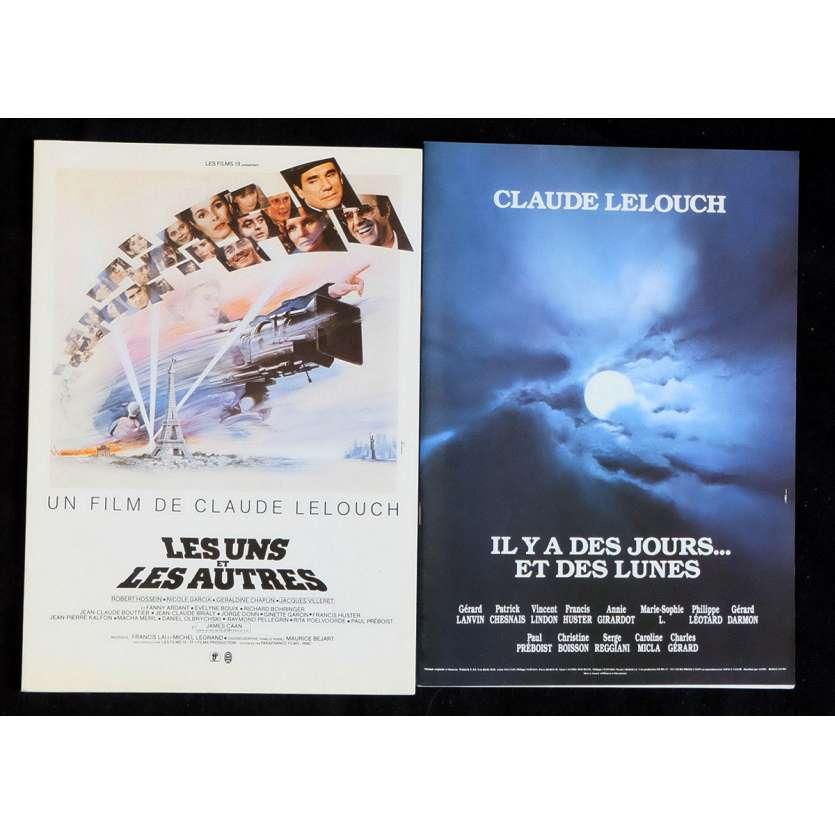 LOT LELOUCH French Pressbook 8x11 - 1970s - Claude Lelouch, Jean-Louis Trintignant