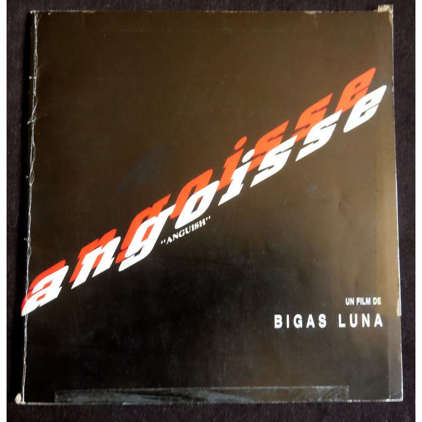ANGUISH Dossier de presse 30p 20x20 - 1987 - Zelda Rubinstein, Bigas Luna