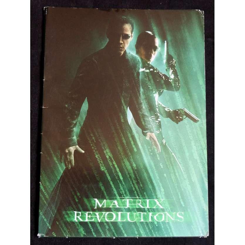 MATRIX REVOLUTION French Pressbook 20p 8x11 - 2003 - Wachowski Brothers, Keanu Reeves
