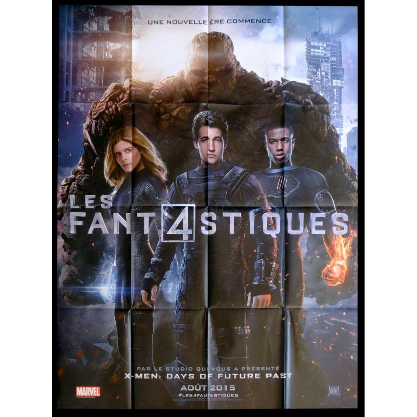 FANTASTIC FOUR French Movie Poster 47x63 - 2015 - Josh Trank, Kate Mara
