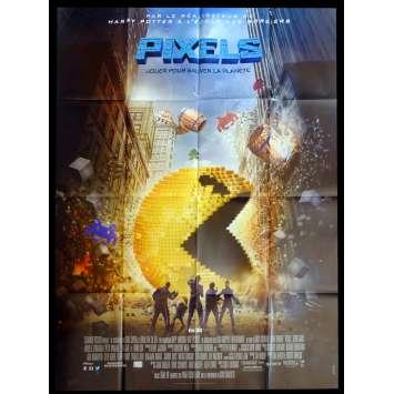 PIXELS French Movie Poster 47x63 - 2015 - Chris Colombus, Adam Sandler