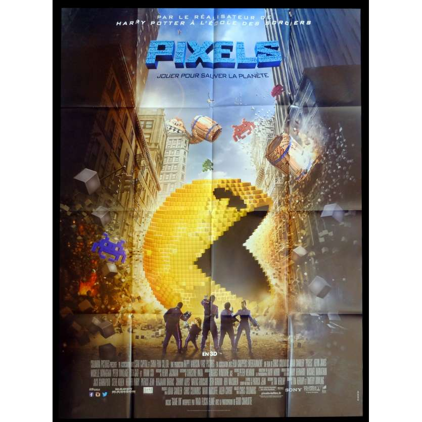 PIXELS French Movie Poster 47x63 - 2015 - Chris Colombus, Adam Sandler