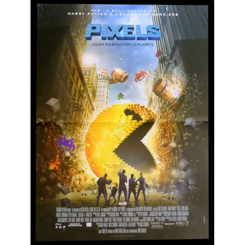 PIXELS French Movie Poster 15x21 - 2015 - Chris Colombus, Adam Sandler