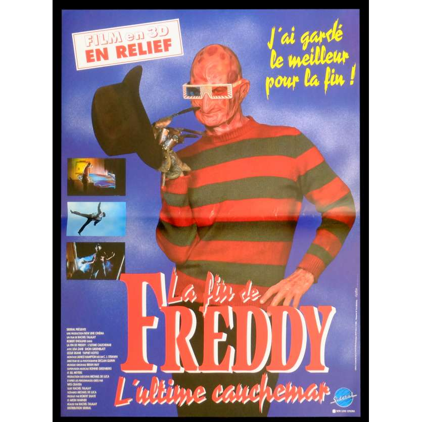 FREDDY'S DEAD French Movie Poster 15x21 - 1991 - Wes Craven, Robert Englung