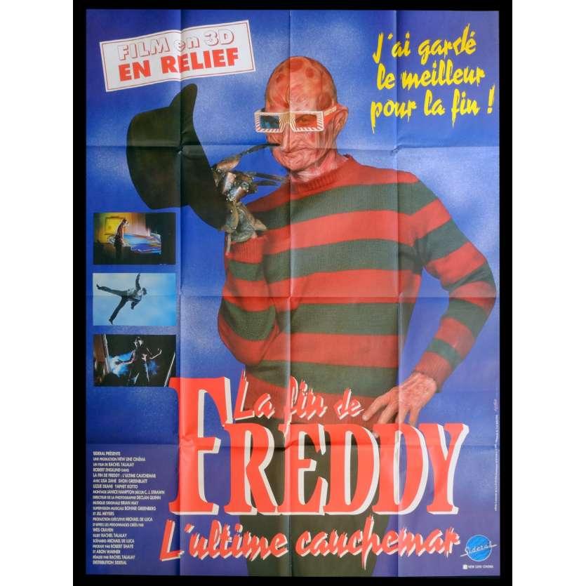 LA FIN DE FREDDY Affiche de film 120x160 - 1991 - Robert Englung, Wes Craven