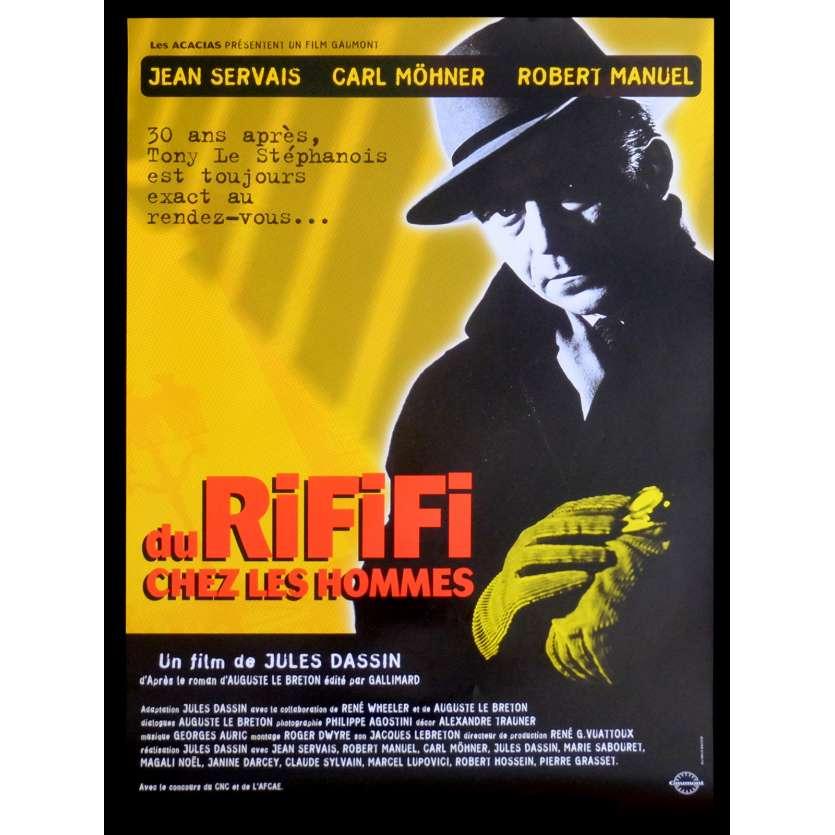 DU RIFIFI CHEZ LES HOMMES Affiche de film 40x60 - R2015 - Jean Servais, Jules Dassin