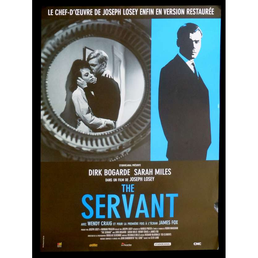 THE SERVANT French Movie Poster 15x21 - R2015 - Joseph Losey, Dirk Bogarde