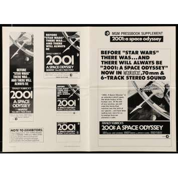 2001: A SPACE ODYSSEY US Pressbook Supplement 4p 12x17 - R1977 - Stanley Kubrick, Keir Dullea