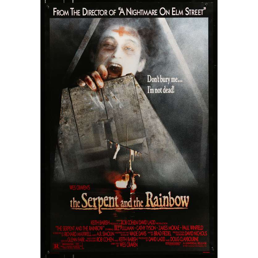 SERPENT & THE RAINBOW US Movie Poster 29x40 - 1988 - Wes Craven, Bill Pullman