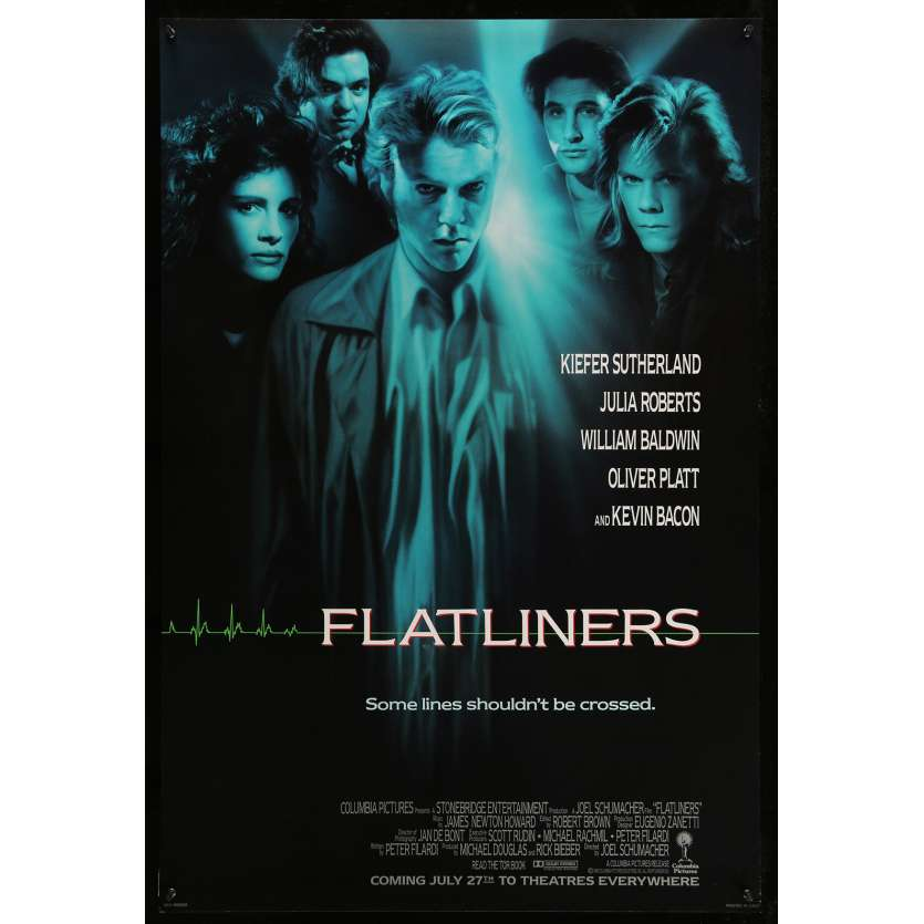 FLATLINERS US Movie Poster 29x40 - 1990 - Joel Shumacher, Kiefer Sutherland