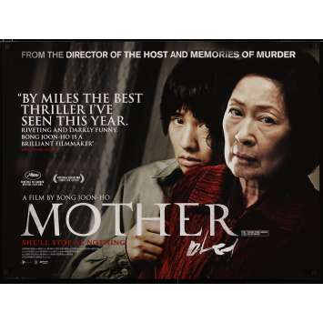 MOTHER British Movie Poster 40x30 - 2009 - Joon-ho Bong, Hye-ja Kim
