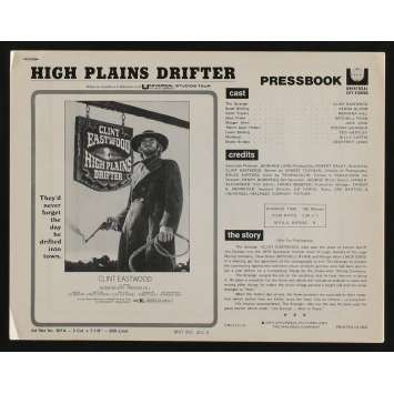 HIGH PLAINS DRIFTER US Pressbook 13p 8x11 - 1973 - Clint Eastwood, Clint Eastwood