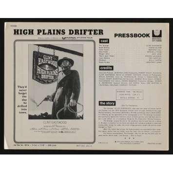 L'HOMME DES HAUTES PLAINES Dossier de presse 13p 22x28 - 1973 - Clint Eastwood, Clint Eastwood