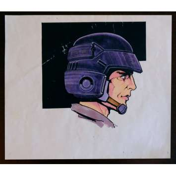 STARSHIP TROOPERS US Production-Used Storyboard Helmet Color 8,5x14 - 1995 - Paul Verhoeven, Denise Richards