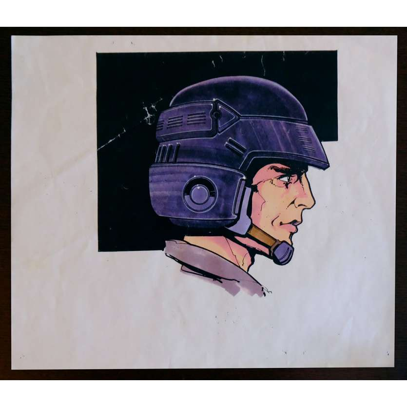 STARSHIP TROOPERS US Production-Used Storyboard Helmet Color 8,5x14 - 1995 - Paul Verhoeven, Denise Richards