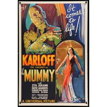 THE MUMMY S2 Recreation Movie Poster 27x41 - 1999 - Karl Freund, Boris Karloff
