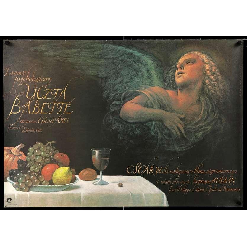 BABETTE'S FEAST Polish Movie Poster 27x38 - 1989 - Gabriel Axel, Stéphane Audran