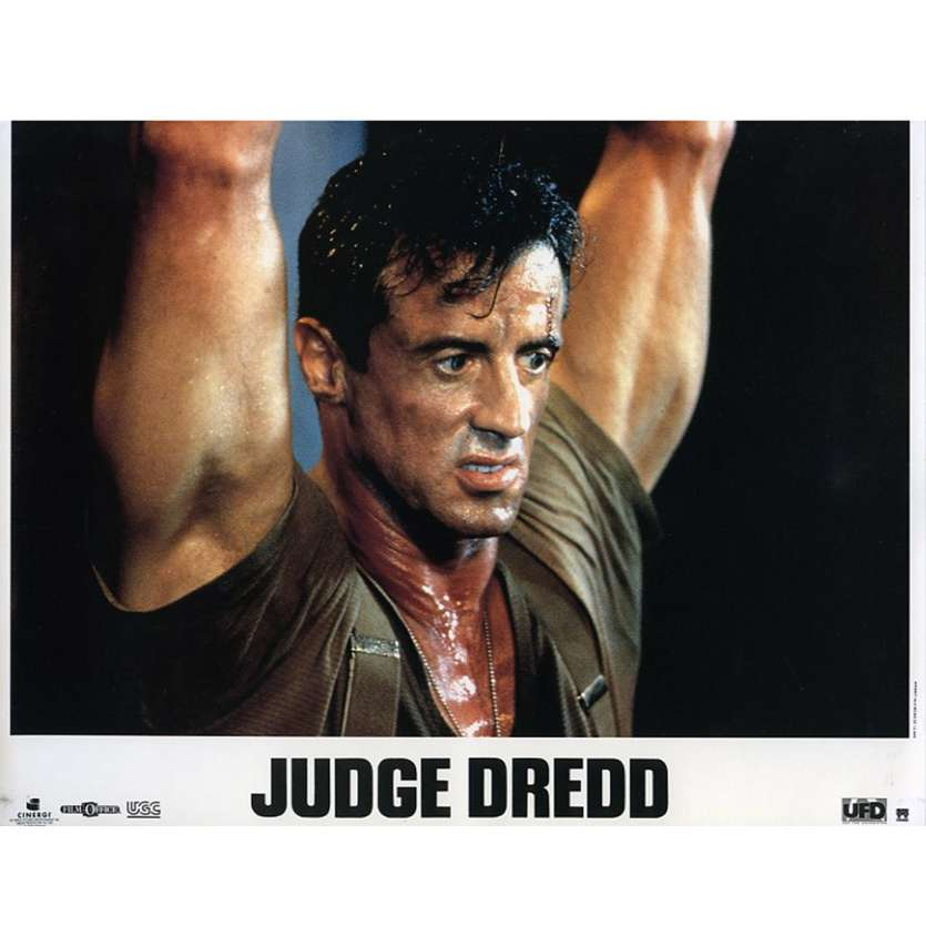 JUDGE DREDD French Lobby Card N2 9x12 - 1995 - Danny Cannon, Sylvester Stallone