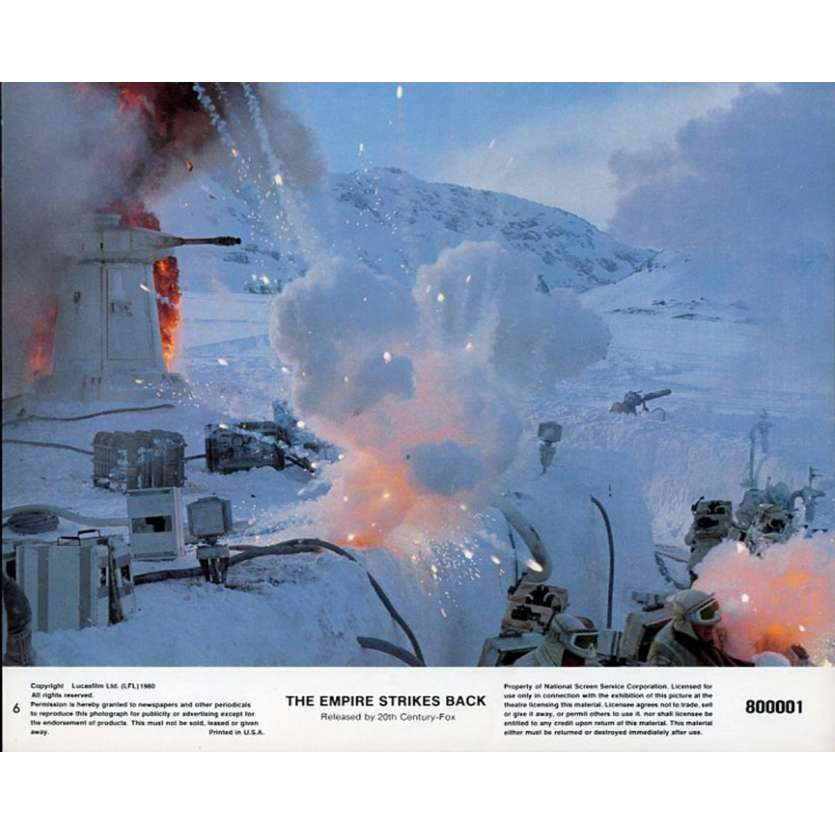 STAR WARS - EMPIRE STRIKES BACK US Lobby Card N2B 8x10 - 1980 - George Lucas, Harrison Ford