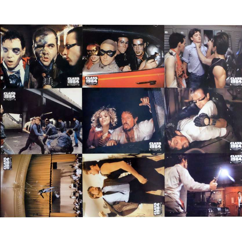 CLASS OF 1984 French Lobby Cards x9 9x12 - 1982 - Mark Lester, Perry King