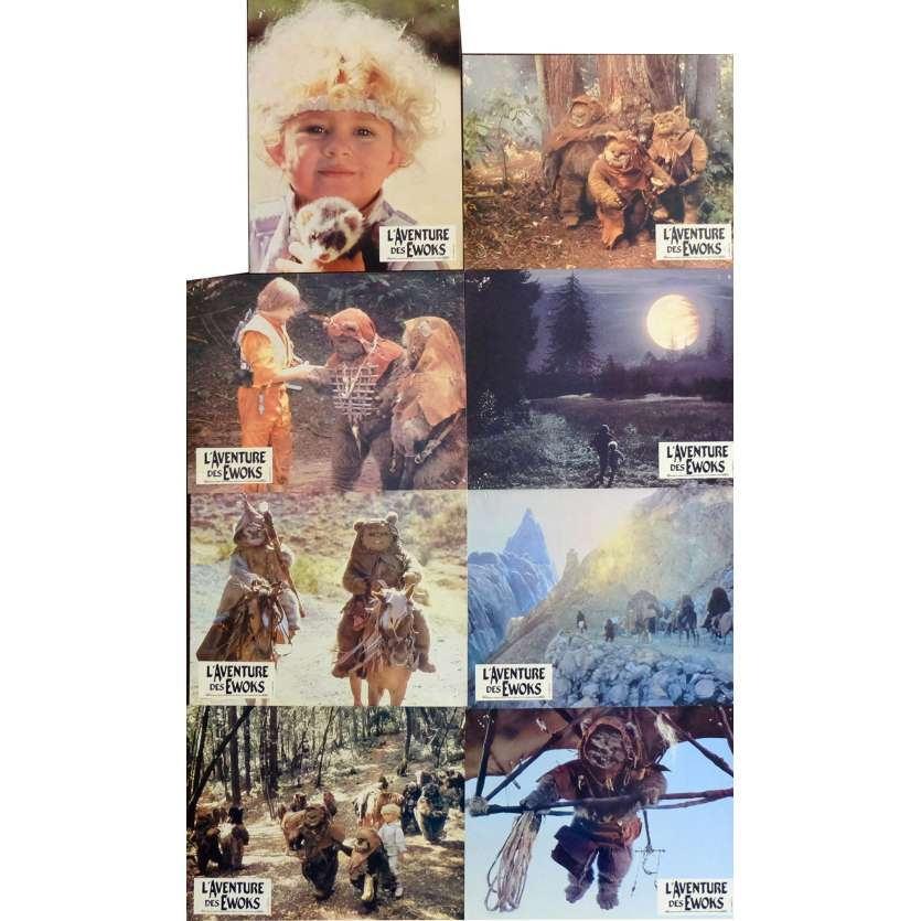 ADVENTURES OF THE EWOKS French Lobby Cards x8 9x12 - 1985 - George Lucas,