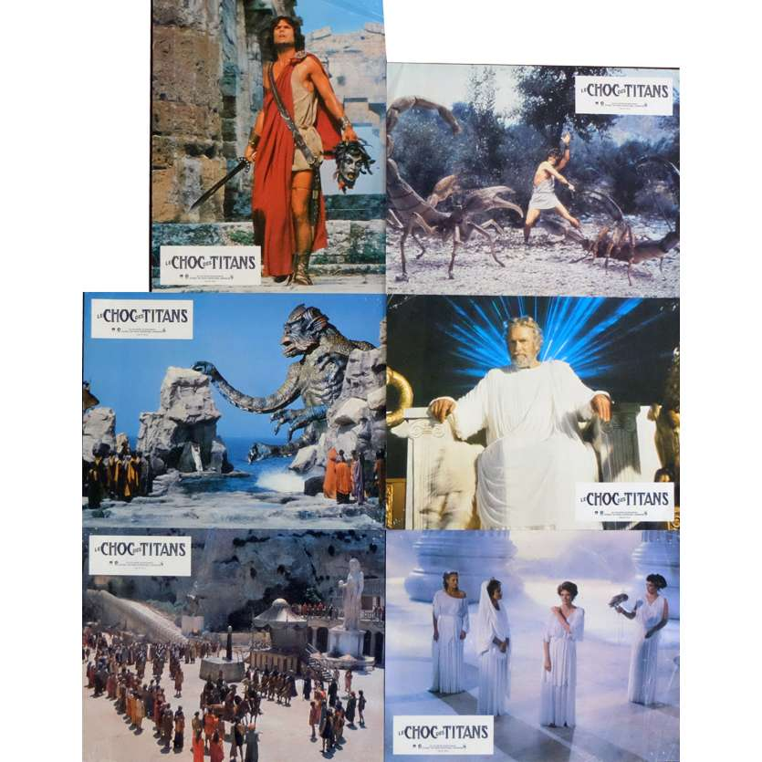 CLASH OF THE TITANS French Lobby Cards x6 9x12 - 1981 - Desmond Davis, Lawrence Oliver