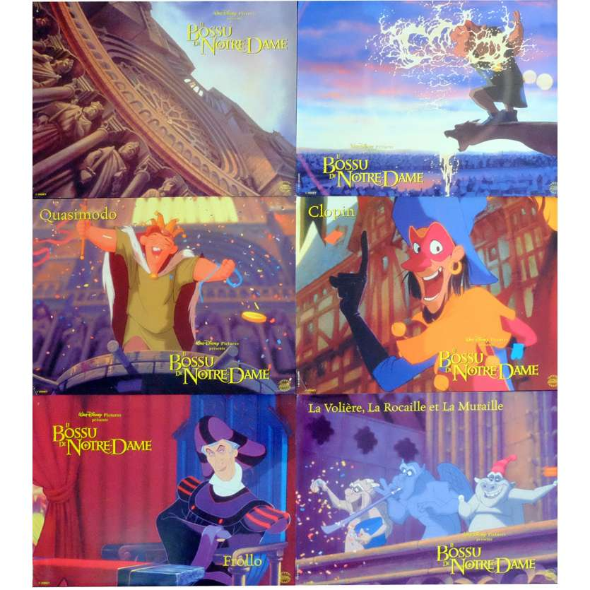 HUNCHBACK OF NOTRE DAME French Lobby Cards x6 9x12 - 1996 - Disney,