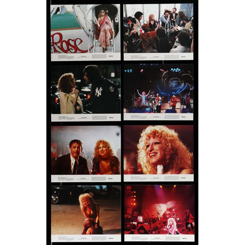 ROSE Lobby Cards x8 8x10 in. USA - 1979 - Mark Rydell, Bette Midler