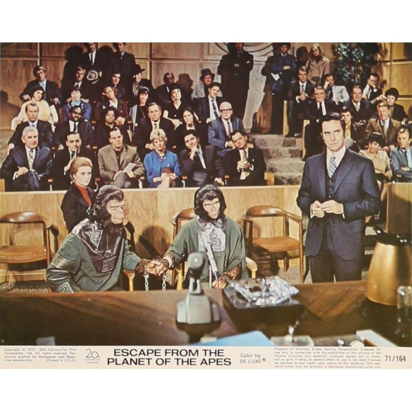LES EVADES DE LA PLANETE DES SINGES Photo de film N8 20x25 cm - 1971 - Roddy McDowall, Don Taylor