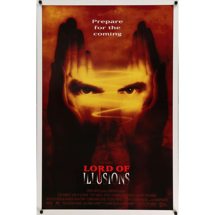 LORD OF ILLUSIONS Movie Poster 29x41 in. USA - 1995 - Clive Barker, Scott Bakula