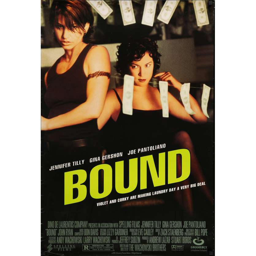BOUND Movie Poster 29x41 in. USA - 1996 - Wachowski Bros, Gina Gershon