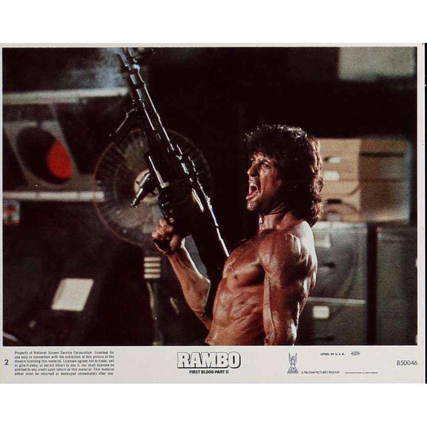 RAMBO FIRST BLOOD PART II Lobby Card N3 8x10 in. USA - 1985 - George P. Cosmatos, Sylvester Stallone