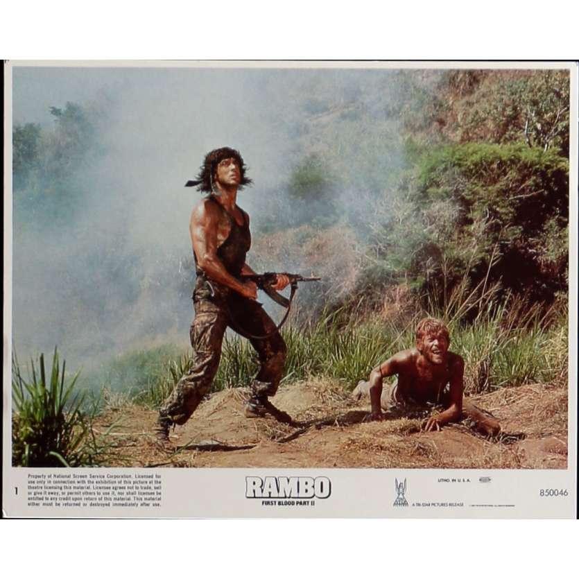 RAMBO II Photo de film N1 20x25 cm - 1985 - Sylvester Stallone, George P. Cosmatos