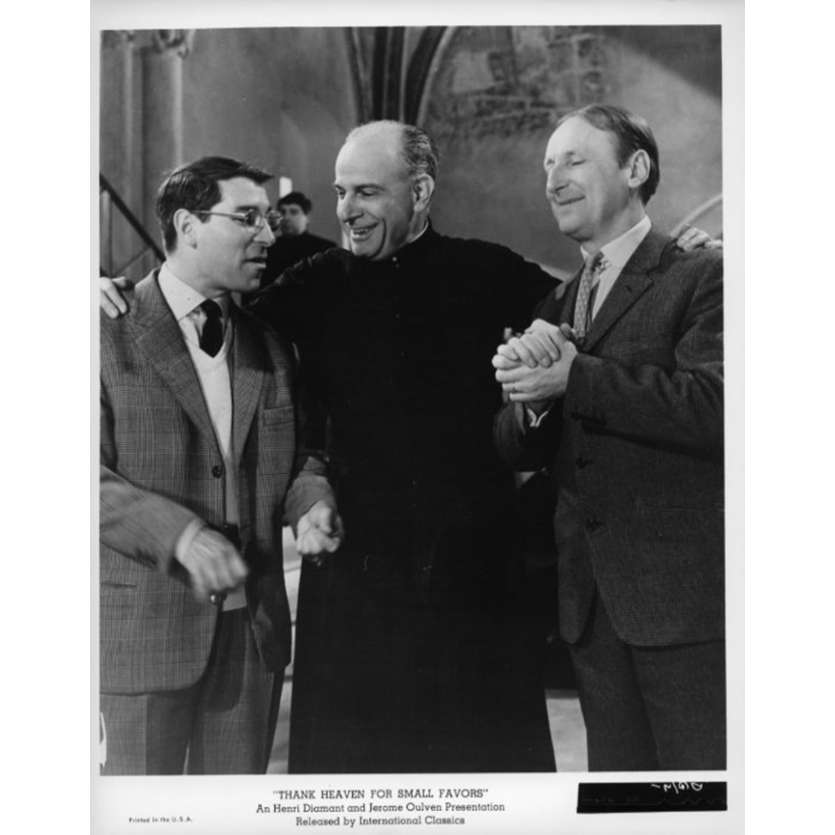 THANK HEAVEN FOR SMALL FAVORS Movie Still N3 8x10 in. USA - 1965 - Jean-Pierre Mocky, Bourvil