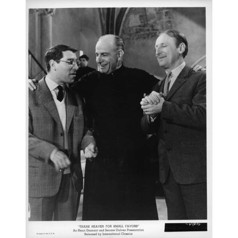 UN DROLE DE PAROISSIEN Photo de presse N3 20x25 cm - 1965 - Bourvil, Jean-Pierre Mocky