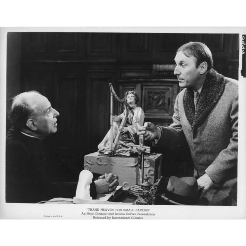 UN DROLE DE PAROISSIEN Photo de presse N8 20x25 cm - 1965 - Bourvil, Jean-Pierre Mocky